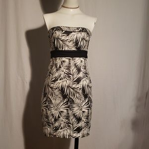 H&M strapless mini dress size 2